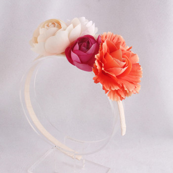 Fiery-red kid rose flower hair accessory China company