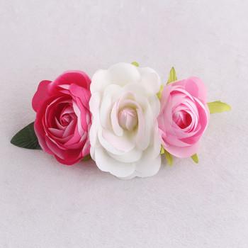 Newest kids pink rose banana hair clip china