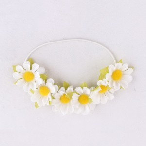 wholesale likable white daisy flower headband crown for kid