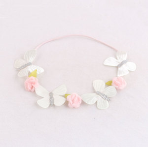 China wholesale lovely butterfly flower headband crown for toddlers