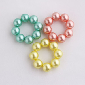 Girls Pearl Bun Holder Wrap Ring Hair Tie China
