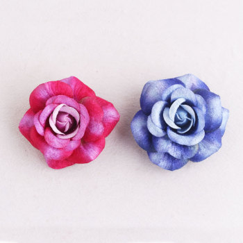 Party rose flower corsage brooch large rose hair clip