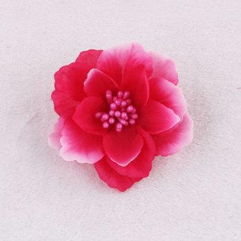 Wedding party pink silk flower hair clip rose hair piece