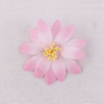 Pink color fake silk flower daisy hair clips for bun wrap hair