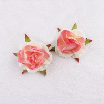Silk coral peach flower hair clips rose hair accessory girl