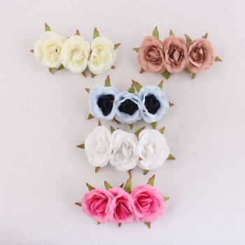 Fashionable women girl artificial rose flower banana piece wedding