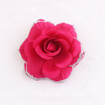 Large artificial rose hair clip party dancing maschera hair accessory