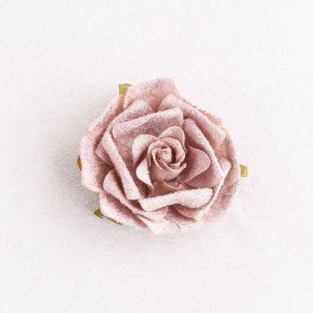 10cm artificial light pink taro rose hair clip party women flower hair accessory