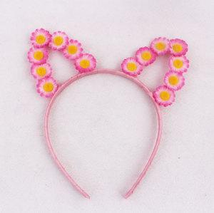 Mini daisy ear floral headband crown cat  ear flower party festival hair band