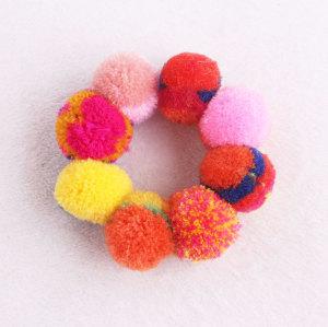 Beaded style jacinth sew pom pom bracelet wrist brand girl accessory