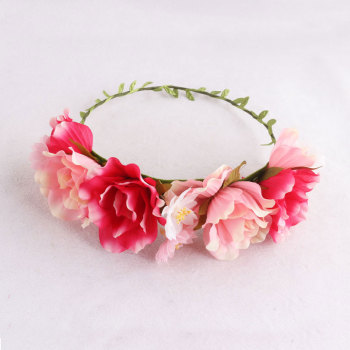 Hot sale spring/summer women hair flower garland headband uk