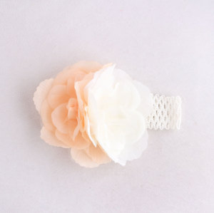 China large silk baby girl flower head piece rose headbands for toddlers
