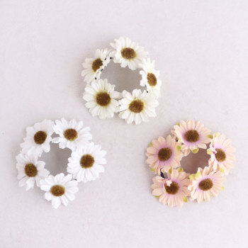 Fashion daisy elastic flower bun wrap daisy hair tie