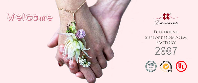 silk flower bracelet