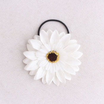 Boho Hawaii oversize color custom artificial daisy flower hair tie rope ballet daisy ponytail holder