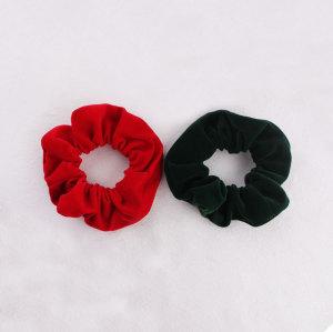 New year festival hair bun wrap red/green Christmas hair scrunchie