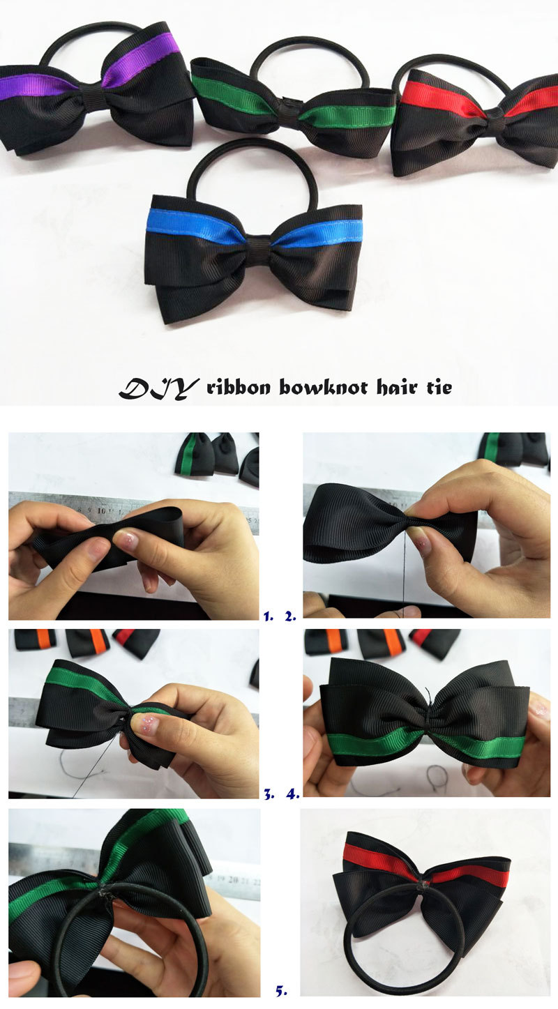 ribbon bow hair tie holder