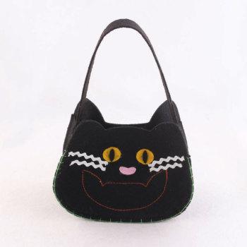 Children kids gift black cat shape tuto bag small kitty handbag wholesale