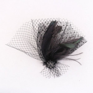 Party/wedding feather fascinator hair clip peacock / ostrich feather hair piece