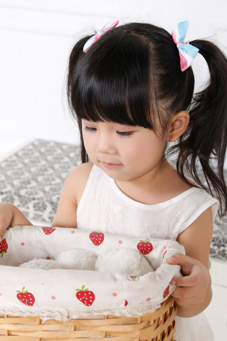 ribbon bow hair tie for children