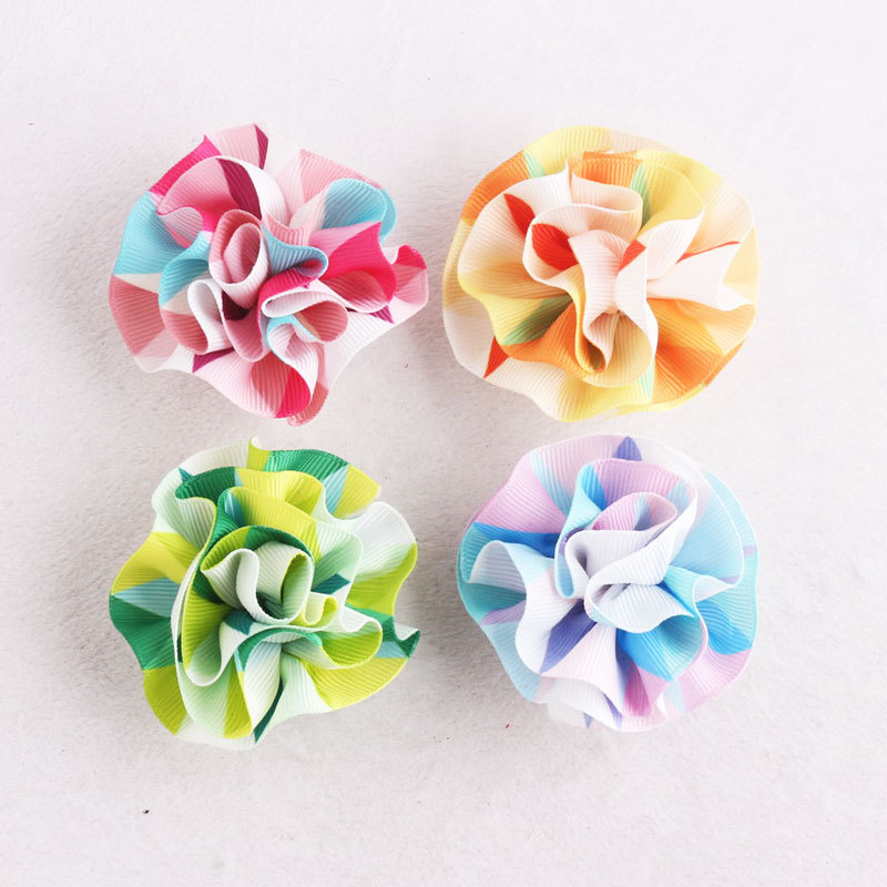 ribbon flower hair clip kids