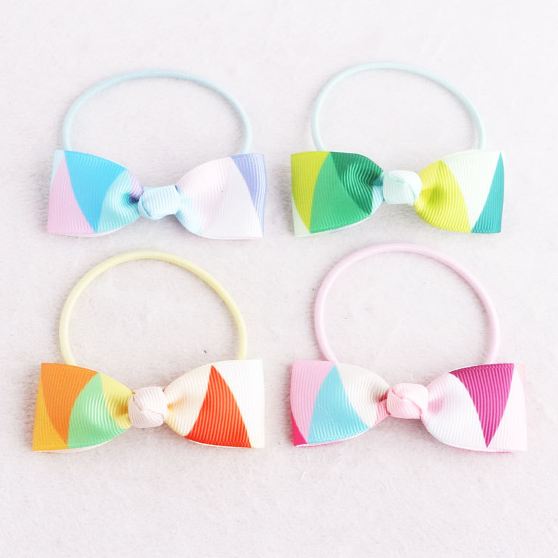 colors bow hair tie rope