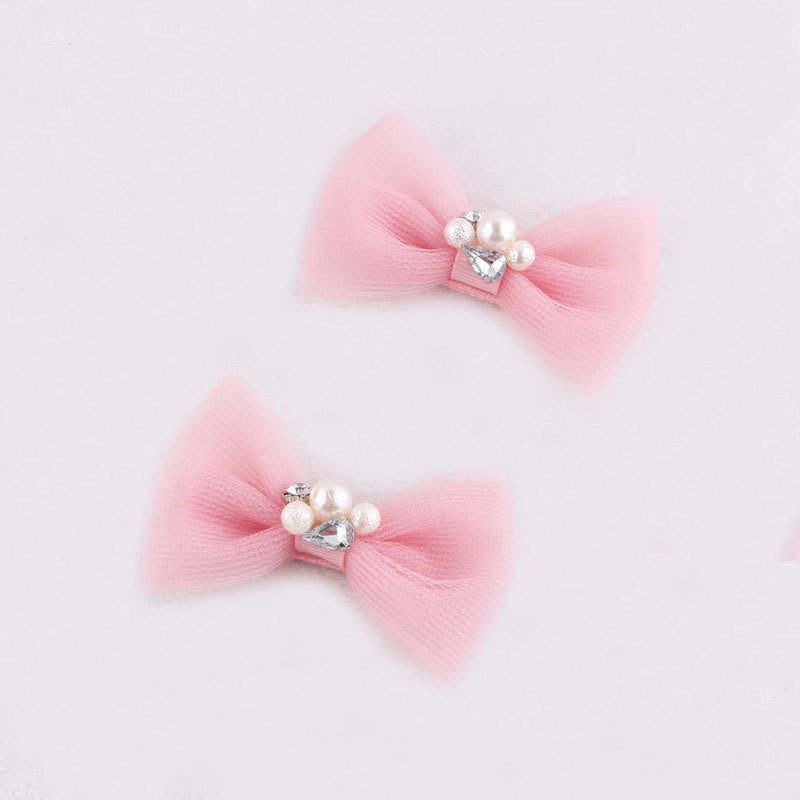 baby mini mesh bow hair clip