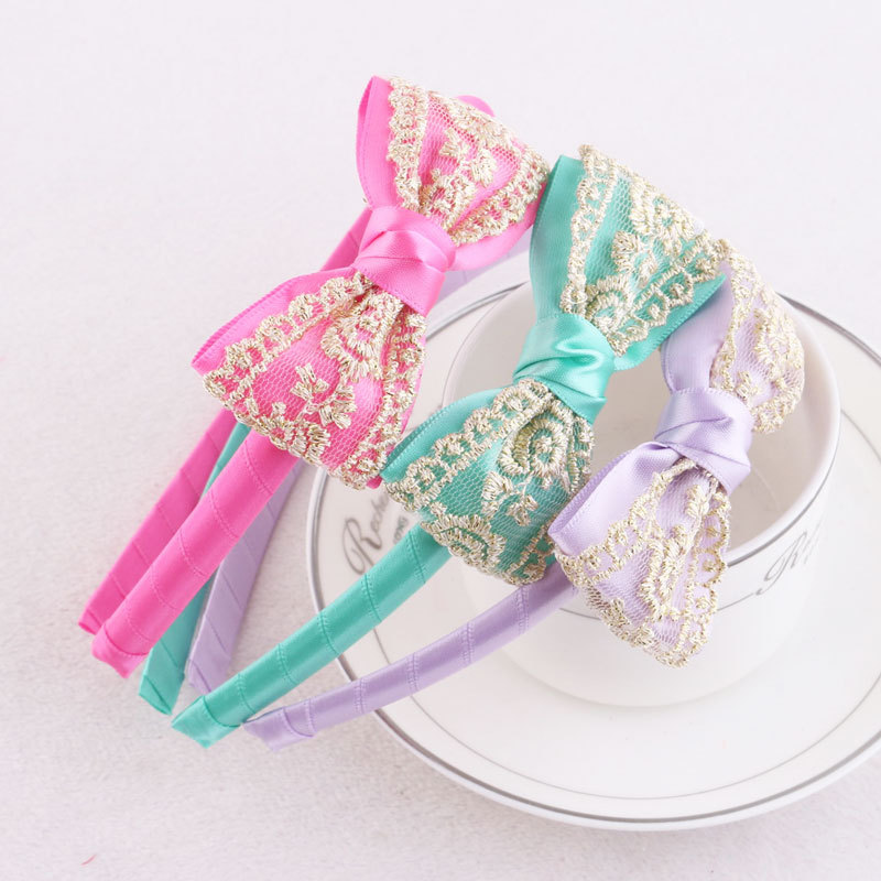 sweet lace ribbon bow hair band