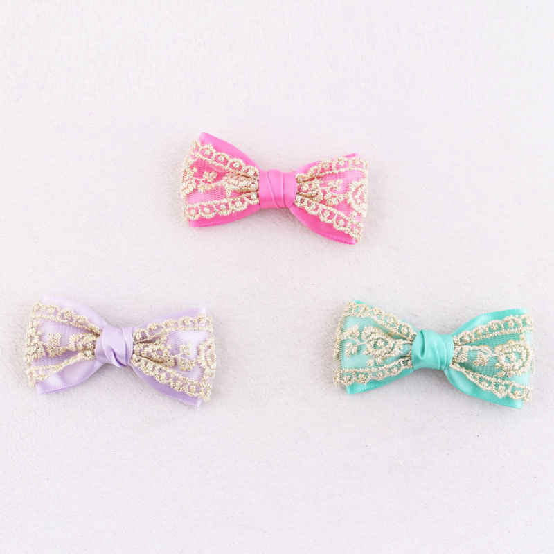 kid lace bowknot hair clip