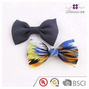 100% handmade small women bow hair accessories chiffon bow hair clip set for high bun