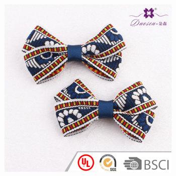 Bohemian hair bow outfit women ribbon bow hair clip