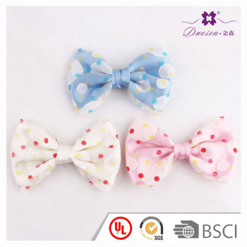 Youthful girl updo bow hair accessory polka dots large bow hair clip uk