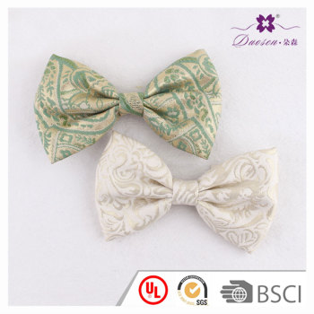 Green oversize embroidery fashion women bow hair clip bow hair accessory wholesale in US
