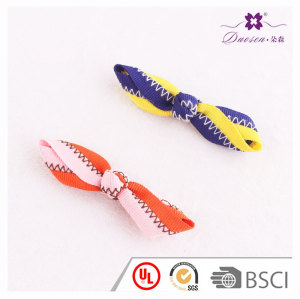 2017 New style small kid pretty splicing ribbon knot bow hair clips for short hair