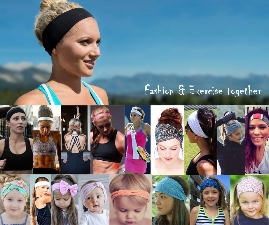 wide athletic headbands
