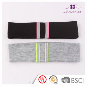 Double layers lycra fabric unisex yoga sport headband for running