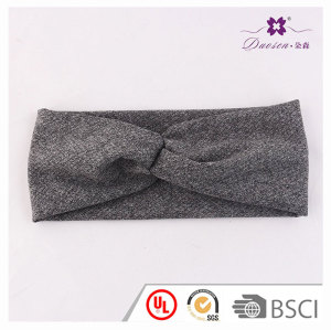 Trendy yoga cotton fabric twist knotted elastic headband for running