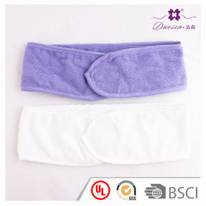 Magical velcro adjustable toweling sweatband terry headband for thermae bath spa sport sauna