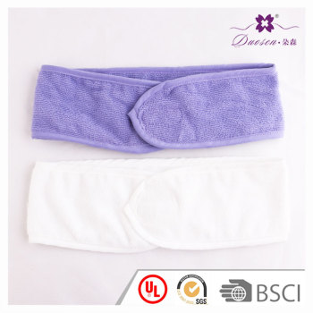 Magical velcro adjustable toweling sweatband terry headband for thermae bath spa sport sauna