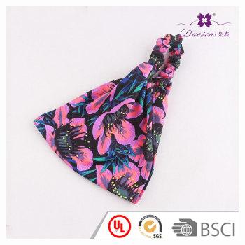 Trendy spring floral printed elastic wide headband hawaiian  turban headwrap for fashion girls