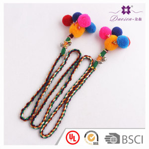 Multi-purpose adjust long pom pom spiral headband bells for hairstyle gift house decor
