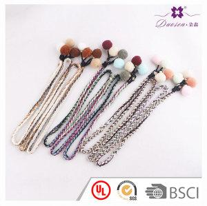 House gift dress decor multifunctional boho hair accessory long pom pom headband wholesale