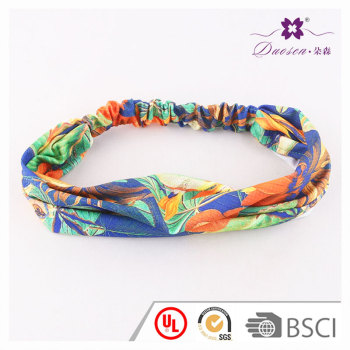 Hawaii tropical beach forest floral printing wide headband for girl lady fashion outfit