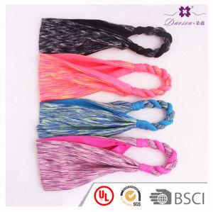Hot spiral absorbent breathable spandex women fashion headband yoga sport logo custom