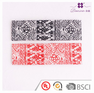 Urban women sport yoga irregular boho printed headwrap moisture wicking headband with R&D service