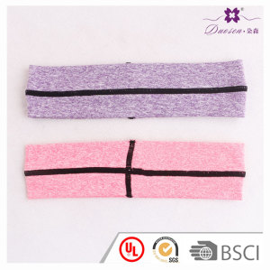 Great elastic mens headbands yoga athletic headband with best sewing wide head band for sport logo custom acceptable