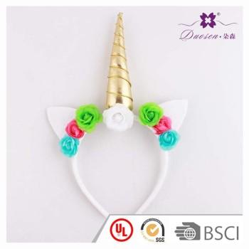 Rose Flower Horn unicorn ears headband unicorn horn hair band lover gift birthday gift idea to new parents