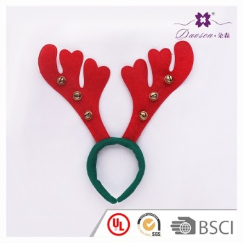 2017 Hotsell BSCI Audit Factory Reindeer Hair Bands in Red and Green for Christmas Party and Festival Headband