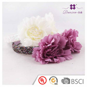 Spring New Style  Lovely Design Fabric  Flower Hair Bands Alice Band for  Girl photo Shooting