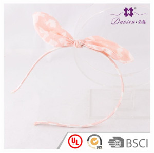 2017 Newest Design Bow Knot Alice Band for Teenager Girls in Floral Print Hair Band for Baby Girl